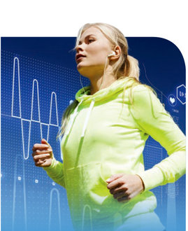 photo of running woman