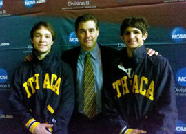school of business students, ncaa national champions, wrestling, ecker, stierly