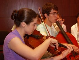 students with viola and cello