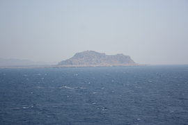 view from the ship to Crete