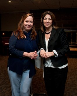 with Naomi Klein, PCIM guest  in spring 2010