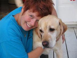 Bon and her dog, Caper
