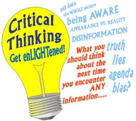 having good critical thinking skills involves being able to Critical thinking is a metacognitive skillwhat this means is that it is a higher-level cognitive skill that involves thinking about thinking we have to be aware of the good principles of reasoning, and be reflective about our own reasoning.