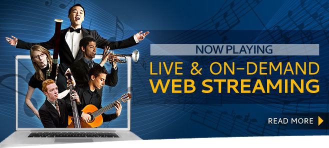 Now Playing: Live & On Demand Webstreaming
