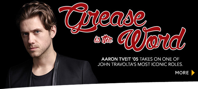 Aaron Tveit Grease banner
