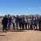Park Scholars, chaperones, Tohono O'dom leader, Border Patrol officer, and filmmakers at the border