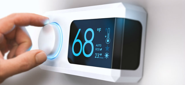 Adjusting a digital thermostat