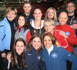 Danielle and interns from other schools with the cast of Olympic Ice