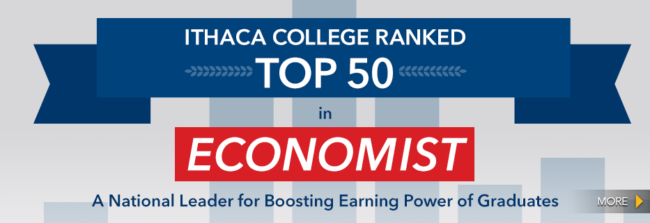 'The Economist� Ranks Ithaca College in Top 50 in the U.S. for Value